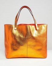 River Island - Shopper double-face - Arancione