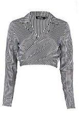 Harper Stripe Tie Front Top