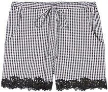FIND Shorts Gingham Donna , Nero (Black/white Check), 48 (Taglia Produttore: X-Large)