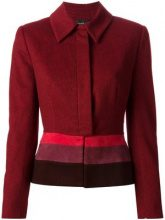 Jean Louis Scherrer Vintage - Giacca color-block - women - Leather/Polyamide/Wool - 42, 44 - RED