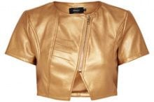 ONLY Leather Look Bolero Women Gold