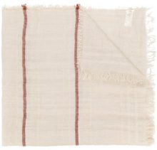 Peserico - Sciarpa con bordo sfrangiato - women - Linen/Flax/Polyester/Polyamide - OS - NUDE & NEUTRALS