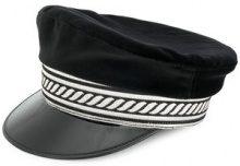 Manokhi - military hat - women - Cotton - 55, 57, 59 - BLACK