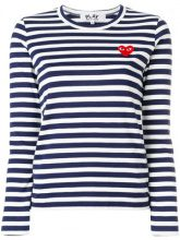 - Comme Des Garçons Play - Maglione a righe - women - cotone - XS, S, M, L - di colore blu