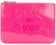 Kenzo - Pochette 'Tiger' - women - Cotton/Calf Leather/Nylon/polyurethane - One Size - PINK & PURPLE