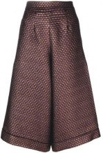 Ultràchic - Pantaloni larghi crop - women - Polyester/other fibers/Polyamide/Cotone - 42, 44 - Rosa & viola