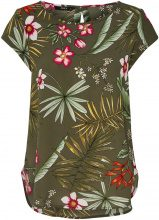 ONLY Flower Printed Short Sleeved Top Women Green