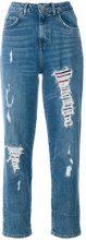 Tommy Hilfiger - Jeans crop con effetto sdrucito - women - Cotone/Spandex/Elastane - 25 - BLUE