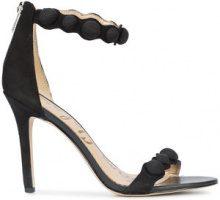 Sam Edelman - button detail sandals - women - Suede - 7, 8, 9, 10, 11 - BLACK