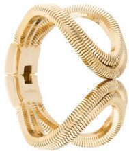 Lara Bohinc - Schumacher double loop bracelet - women - Gold Plated Brass - OS - METALLIC