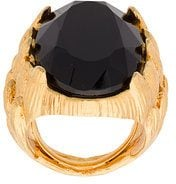 Oscar de la Renta - Monarch ring - women - Brass/Peltro/glass - OS - Nero