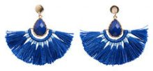 PIECES Big Solid Earrings Women Blue