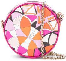 Emilio Pucci - Mini borsa con stampa - women - Polyurethane/Polyester/Cotone/Polyamide - OS - PINK & PURPLE