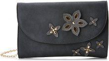 SwankySwans Lisa Smart Faux Leather - Pochette da giorno Donna, Grigio (Dark Grey), 5x16x25 cm (W x H x L)