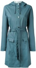 Rains - belted coat - women - Polyester/Polyurethane - XXS - BLUE