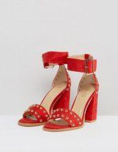RAID - Jessie - Sandali rossi con tacco largo e borchie - Rosso