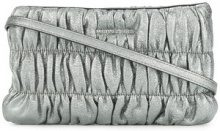 - Michael Michael Kors - ruched clutch bag - women - pelle - Taglia Unica - effetto metallizzato