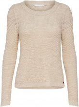 ONLY Solid Knitted Pullover Women Beige