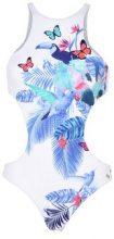 EA7 SEA WORLD BW GRAPHIC EMROIDERED W ONEPIECE - MARE E PISCINA - Costumi interi - su YOOX.com