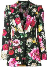 Dolce & Gabbana - Giacca con stampa floreale - women - Cotone/Polyester/Spandex/Elastane - 46, 40, 42, 44 - Nero