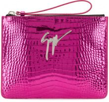 Giuseppe Zanotti Design - Margery clutch bag - women - Calf Leather/metal - OS - PINK & PURPLE
