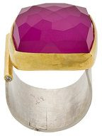 Katerina Makriyianni - Anello aperto - women - Sterling Silver/Gold Vermeil - OS - PINK & PURPLE