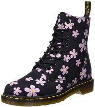 Dr. Martens Page, Stivaletti Donna, Multicolore (Cherry Red Meadow 600), 39 EU