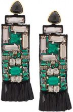 Lizzie Fortunato Jewels - City earrings - women - Gold Plated Brass - One Size - GREEN