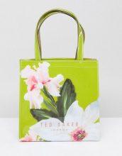 Ted Baker - Borsa con logo piccolo e motivo Chatsworth a fiori - Verde
