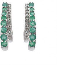 Jewelili 925-Orecchini rotondi, in argento, colore: bianco, argento, colore: bianco, cod. 107657Z/STGSIL/RDE4/KA/SILEB/STD