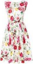 Dolce & Gabbana - sleeveless floral dress - women - Cotton - 40, 44, 42, 46 - WHITE