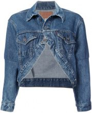 R13 - cropped denim jacket - women - Cotone - One Size - BLUE