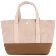 Cabas - knit style small tote bag - women - Cotton - OS - PINK & PURPLE