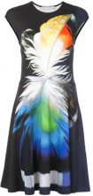 Mary Katrantzou - feather print midi dress - women - Viscose/Spandex/Elastane - M, L - BLUE