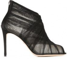 Dolce & Gabbana - tulle booties - women - Leather/Polyamide - 39, 36, 37, 39.5, 40 - Nero