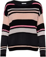 ONLY Striped Knitted Pullover Women Black