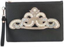 Sophia Webster - Flowwy Royalty clutch bag - women - Calf Leather - One Size - BLACK
