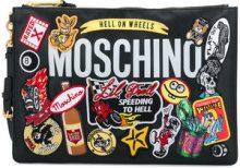 Moschino - Borsa Clutch - women - Calf Leather - OS - BLACK