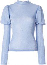 Vivetta - Top con maniche a palloncino - women - Viscose/Polyester/Polyamide/Spandex/Elastane - 38, 42 - BLUE