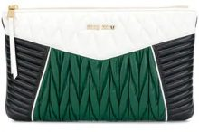 Miu Miu - Borsa Clutch oversized - women - Calf Leather - One Size - WHITE