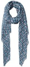 PIECES Long Printed Scarf Women Blue