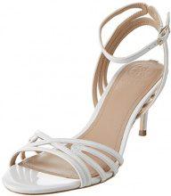 Guess Footwear Dress Sandal, Scarpe con Cinturino alla Caviglia Donna, Bianco, 36 EU