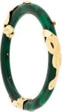 Gas Bijoux - Bracciale 'Cobra' - women - Acetate/24kt Gold Plate - OS - GREEN