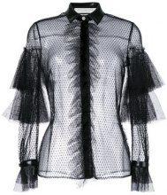 Philosophy Di Lorenzo Serafini - Camicia a rete trasparente - women - Polyamide/Polyurethane/Polyester - 42 - Nero