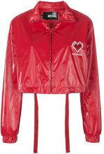 Love Moschino - Bomber crop con motivo a cuore - women - Polyester/Viscose - 40, 42 - RED