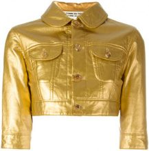 Comme Des Garçons Vintage - Giacca modello crop - women - Cotton/Polyester - S - METALLIC