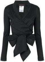Talbot Runhof - Top con dettaglio nodo - women - Silk/Polyester/Spandex/Elastane - 34, 36, 38, 40, 42, 44 - BLACK