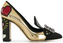 Dolce & Gabbana - Pumps 'Bellucci' - women - Leather/glass - 36.5, 35, 38, 39 - Nero