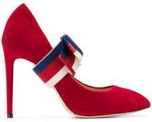 Gucci - Pumps con punta aguzza - women - Velvet/Leather - 35, 36, 38, 38.5, 39.5, 40 - Rosso