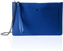 Chicca Borse 1515, Borsa a Spalla Donna, Blu (Blue), 28x18x2 cm (W x H x L)